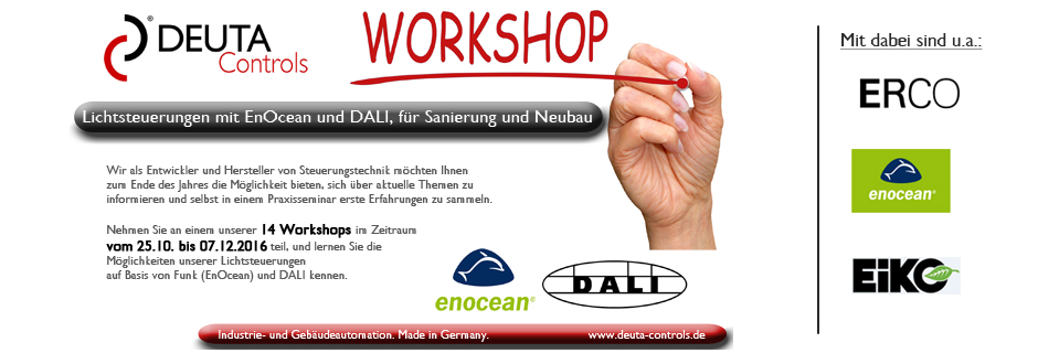 Workshop EnOcean DALI Controller BL-201 BL-202 DEUTA Controls