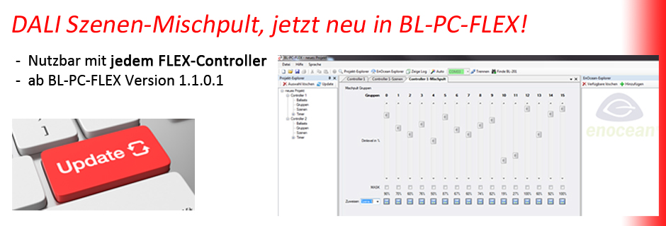 BL-PC-FLEX DALI EnOcean Mischpult DEUTA Controls