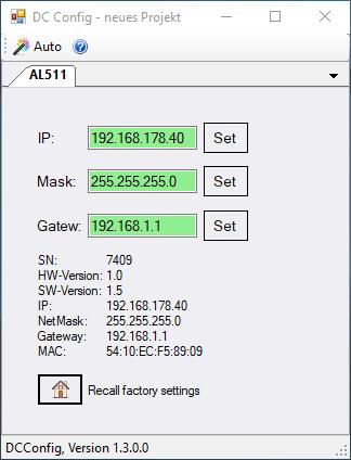 DC Config AL-511-00 IP-DALI-BRIDGE DEUTA Controls GmbH